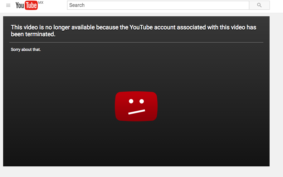 The video 'Pedophiles Rule the World' was removed.
